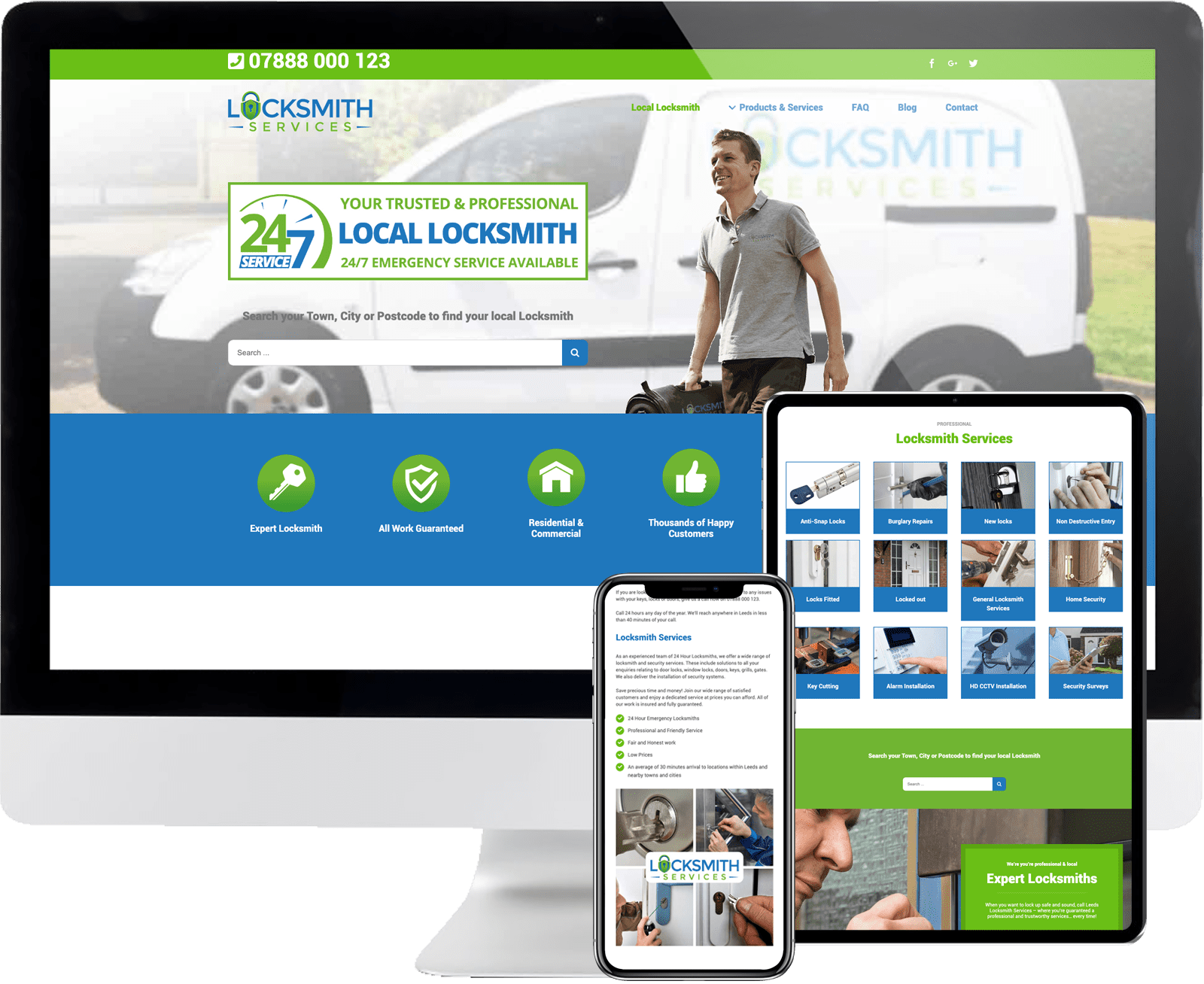 Locksmith service 247 devices