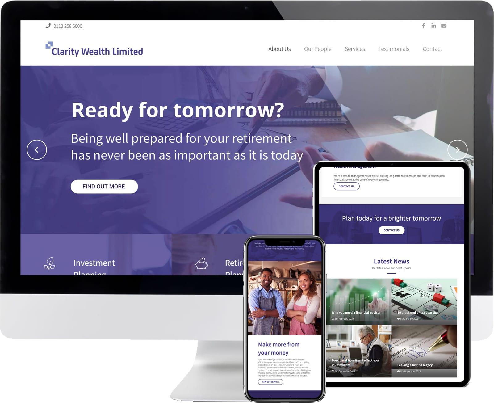 clarity wealth web design