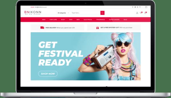 bnikonn website design
