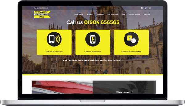 Streamline Taxis responsive website design