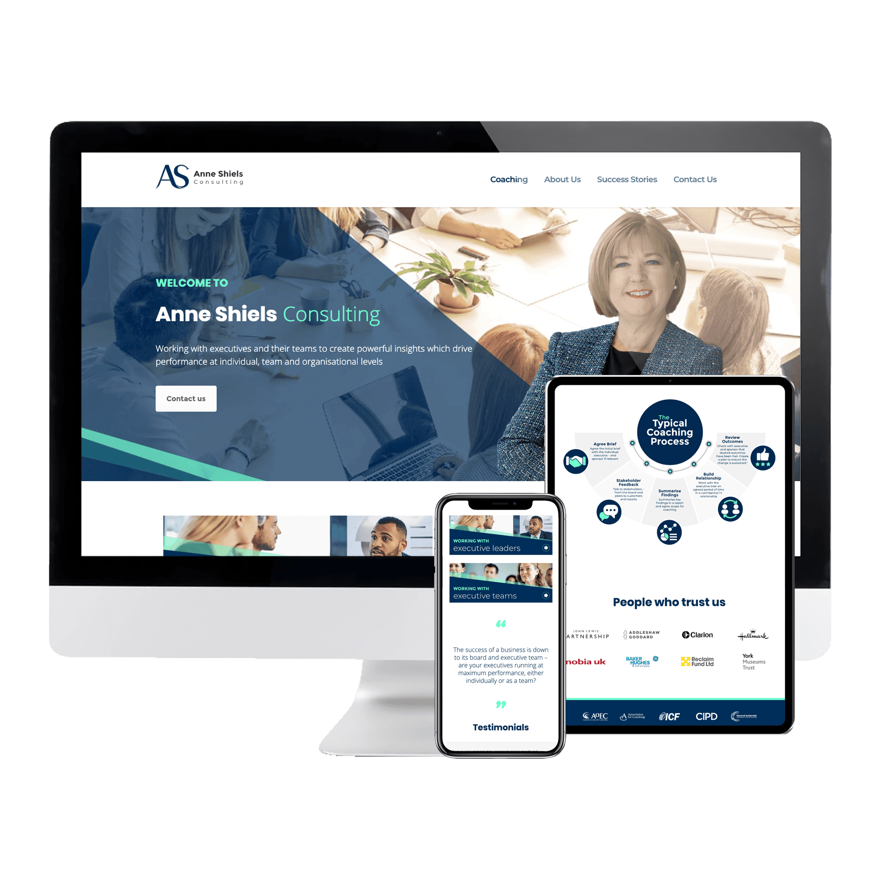 Anne Shiels Consulting Website design
